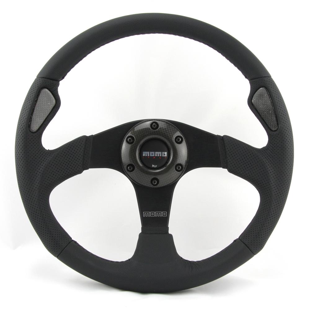 momo lenkrad jet 35cm schwarz steering wheel volante ebay. Black Bedroom Furniture Sets. Home Design Ideas