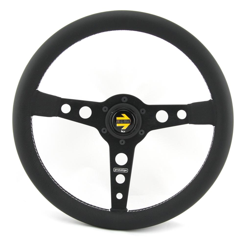 momo lenkrad prototipo 35cm schwarz steering wheel volante. Black Bedroom Furniture Sets. Home Design Ideas