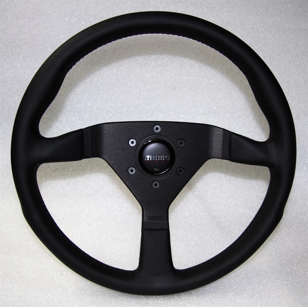 momo lenkrad montecarlo 35cm schwarz steering wheel. Black Bedroom Furniture Sets. Home Design Ideas