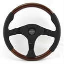 Momo Lenkrad Dark Fighter Wood 35cm Mahagoniholz Leder schwarz steering wheel volante