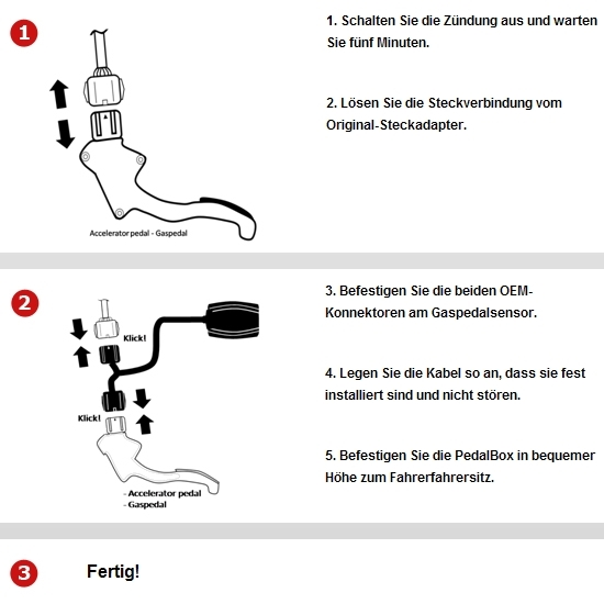 DTE Systems PedalBox 3S für Infinity Nissan Renault diverse Modelle KW Gaspedal
