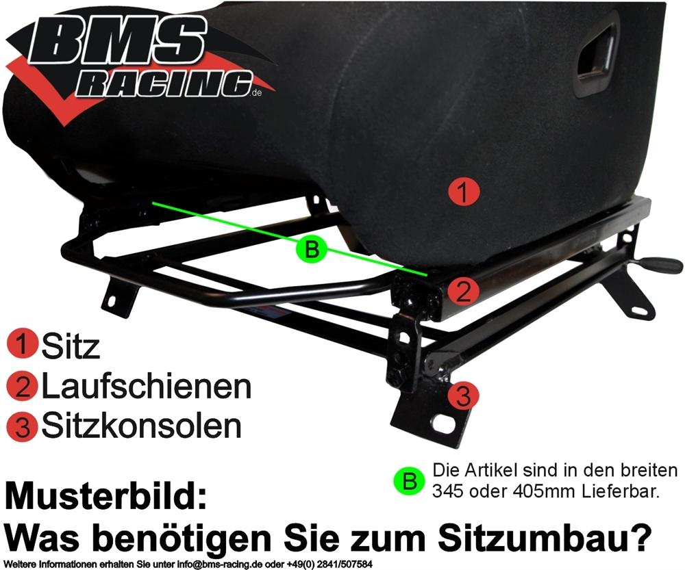 Wiechers rails avec largeur 405 mm pour un siège siège sport laufschie...