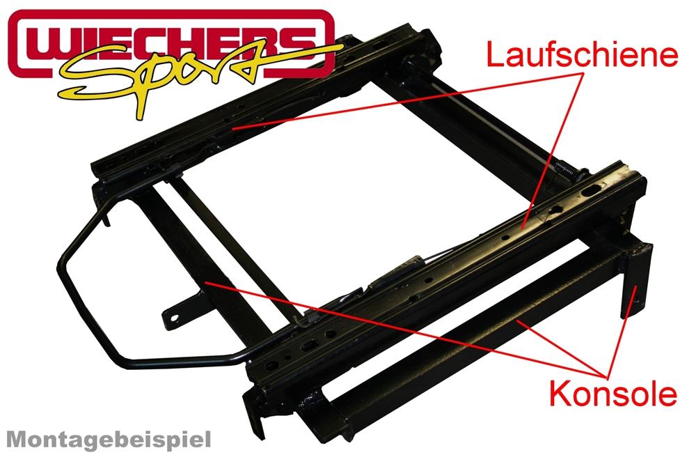 Wiechers Sitzkonsole 345 mm pour VW New Beetle-Gauche Starr
